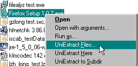 UniExtract Context Menu