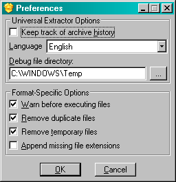 UniExtract Preferences